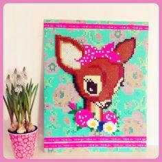 Bambi van strijkkralen van Studio Hip en Stip