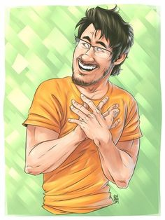 Mark Fischbach wallpaper probably with a headshot and comic book in The Markiplier Club