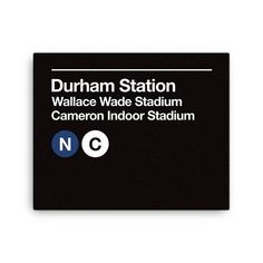 Durham Sports Venues Subway Sign Gallery Wrapped Canvas