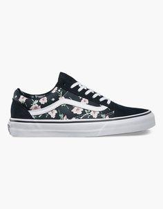 VANS Vintage Floral Old Skool Womens Shoes 261809957   Sneakers
