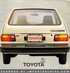 Japanese Car Brochures, Commercials and Paint Codes Toyota Starlet, Classic Japanese Cars, Car Brochure, Toyota Cars, Car Advertising, Rotary, Subaru, Mazda, Cars And Motorcycles