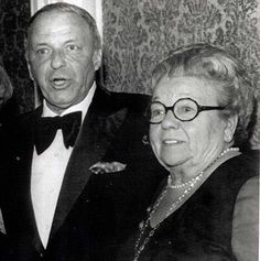 Frank Sinatra with his mother