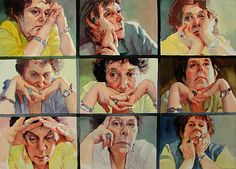 self portrait workshop elderly collage