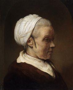 Пожилая женщина в белом чепце. Рембрандт Харменс ван Рейн.         Частная коллекция  ок1640