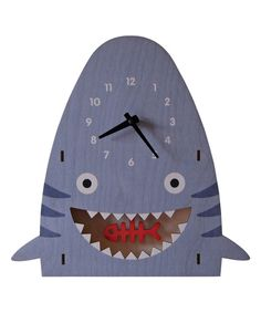 Perfect for the kids bathroom with a pirate theme or ocean theme! Boys bathroom idea Modern Moose Shark Pendulum Wall Clock on #zulily today!