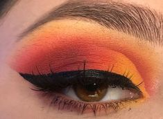 Security Check Required Red Eyeshadow Looks Check Required Security Orange Eyeshadow Looks, Orange Eye Makeup, Yellow Makeup, Bright Eyeshadow, Black Girl Makeup, Colorful Eye Makeup, Purple Eyeshadow, Natural Eyeshadow, Natural Makeup