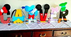 Adorable Mickey Mouse Party name letters - Amanda's Parties To Go