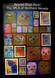 Great community connection to animal shelter/hospital... and a different take on portraits!  Love this!