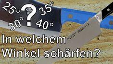 Messerschärfen - Schneidenwinkel, welcher ist der richtige für mein Messer?