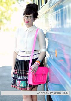 W.A.N.T.: Upwardly Mobile Satchel in Neon Pink, The Cambridge Satchel Company