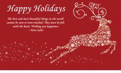 HAPPY HOLIDAYS CHRISTMAS DEER