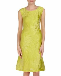 Palm Leaf Jacquard Sheath Dress by Lafayette 148 New York at Last Call by Neiman Marcus.