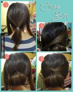 Tolle Style-Variation für halblange Haare
