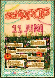 Poster voor #Schippop 2016 #stringart  String art poster DIY