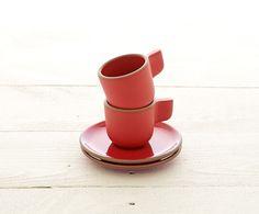 2016 Classic Red Collection // Espresso Cup Set - Heath Ceramics