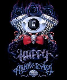 Harley Davidson Graphics | Type & Illustration : Like Minded Studio