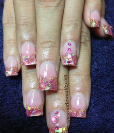 Nails Love Nails, Pink Nails, Mylar Nails, Nail Manicure, Nail Polish, Beauty Brushes, Pretty Hands, Rhinestone Nails, Cool Nail Designs