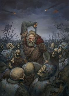 Viking vs. skeletons by JonasJensenArt on deviantART via PinCG.com