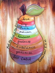 The fruit of the spirit painting colorfully hand painted by
