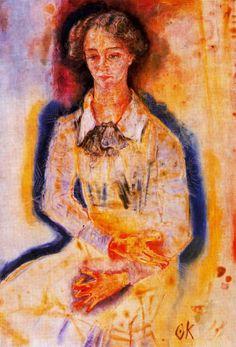 Oskar Kokoschka, 'Lotte Franzos', 1909. Óleo sobre lienzo, 115 x 79.5 cm