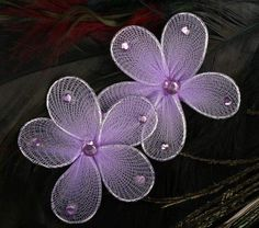 Orchid Sheer Nylon Flowers