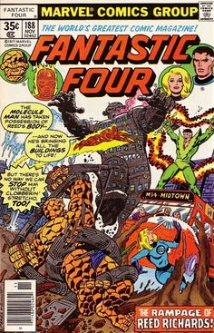 Fantastic Four #188 - The Rampage Of Reed Richards!