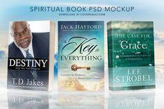 """6 x 9 """"Spiritual"""" Book Set PSD Mockup via @covervault"""