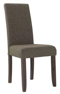 Silla tapizada en tela modelo Rossa en color marrón Precio: 39€. Cómprala en nuestra tienda online --> http://www.mueblesbonitos.com/silla-comedor-rossa-marron.html
