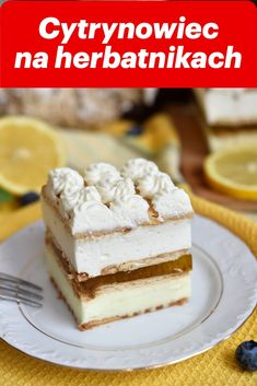 Polish Recipes, No Bake Cake, Vanilla Cake, Tiramisu, Ale, Cheesecake, Food And Drink, Tasty, Sweets