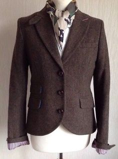 36eba73bf19f8 JACK WILLS Wool Tweed Blazer/Jacket Herringbone Riding Hacking Hunting Size  12 Tweed Blazer,