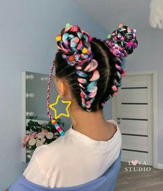 Braided Hairstyles Tutorials, Diy Hairstyles, Pretty Hairstyles, Rave Hair, Hair Dye Tips, Baby Girl Hairstyles, Coloured Hair, Hair Today, Human Hair Wigs