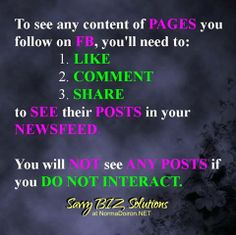 Photo: Did you know this??? No more wondering WHY you're NOT seeing the content of the pages you want to see in your newsfeed. YOU KNOW WHAT TO DO, now! (Y)