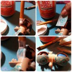 Decoupage Lid Tutorial #blythe #tutorial #custom