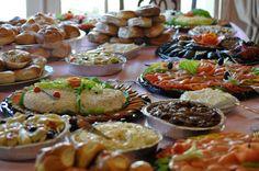 Bagel Bar- Smoked Salmon, Tuna Salad, Egg Salad, Assorted Veggie Salads, Grilled Veggies, Bagels & Cream Cheese
