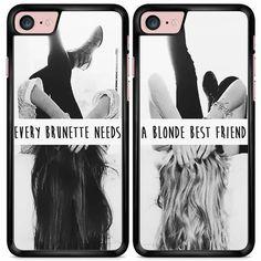 Blonde & brunette best friends hoesjes voor diverse telefoons - Casimoda.nl