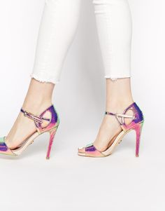 Lipsy+Charley+Iridescent+Heeled+Sandals - I'm in love.