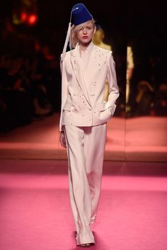in house designed Schiaparelli Spring 2015 Couture collection.