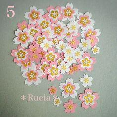 ハンドメイドマーケット+minne(ミンネ)|+Rueia*クラフトパンチ5☆アレンジフラワーセット+桜50枚