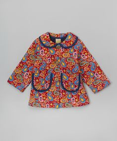 Look at this Maria Elena Paisley Corduroy Quilted Jacket - Toddler on #zulily today!