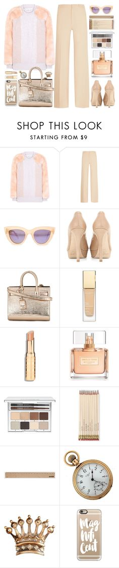 """Pretty Cat"" by doga1 ❤ liked on Polyvore featuring STELLA McCARTNEY, Roland Mouret, Quay, Jimmy Choo, Yves Saint Laurent, Clarins, Givenchy, Clinique, Kate Spade and Artek"