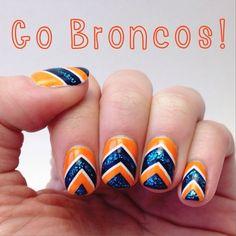 Broncos nails for Super Bowl 2014