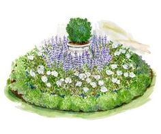Rose Garden Combine a lush cottage-garden feel with classic formal-garden elements with this small space garden plan. - Combine a lush cottage-garden feel with classic formal-garden elements with this small space garden plan.