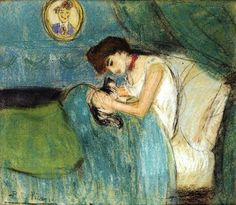 Pablo Picasso (1881-1973) Woman with Cat 1900