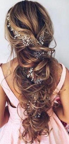 bridal hair. crystals flower hair pins. accessories. boho bride.