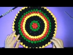 3 DE 5 COMO TEJER GORRO BOINA ESTILO REGGAE CON PUNTO BODOQUE POPCORN GANCHILLO CROCHET - YouTube