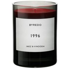 Byredo 1996 Candle found on Polyvore featuring home, home decor, candles & candleholders, fillers, candles, black, decor, valentines day home decor, heart candles and valentines day candles