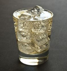 Easy Holiday Punch by cocktailremedy:  Easy to make in the middle of a party. You'll only have to pull yourself away from a conversation for two minutes to make another batch and keep the party right on going. Whiskey/bourbon or vodka would also work well.