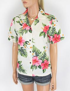 Check out the deal on Tropical Plumeria Hawaiian Shirt for Women at Shaka Time Hawaiian Clothing Store