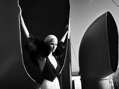 Lara Stone. Photo by Mert Alas and Marcus Piggott, styled by Alex White. W Magazine, September 2008.