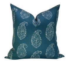 Kashmir Paisley pillow cover in Tea/Peacock by sparkmodern on Etsy